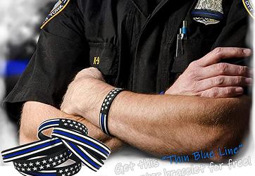 Free Thin Blue Line Bracelet Band